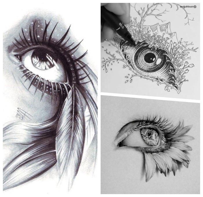 zeichnen lernen mit bleistift schritt für schritt, abstrakte bilder zum nachzeichnen