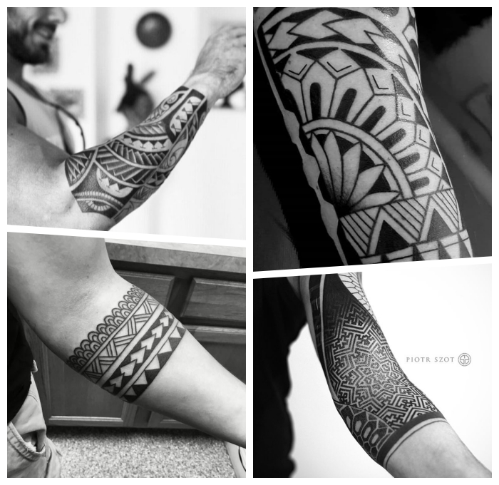 herren tattoo ideen, die besten designs, tribal band, geometrische motive