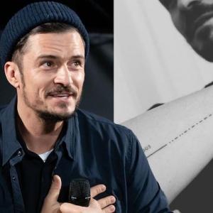 Das neue Tattoo von Orlando Bloom - mit Tippfehler...