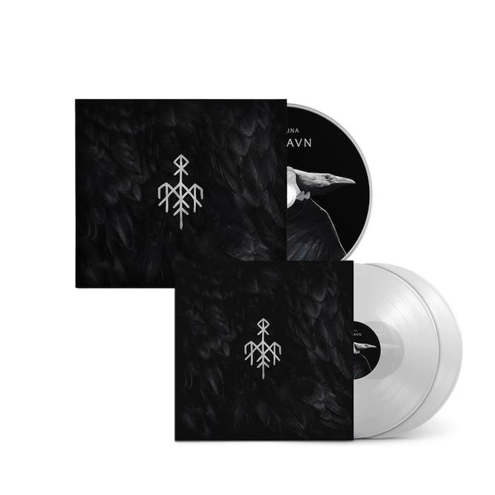 ein weißer vogel, das album Kvitravn der band wardruna, ein album mit schwarzen federn