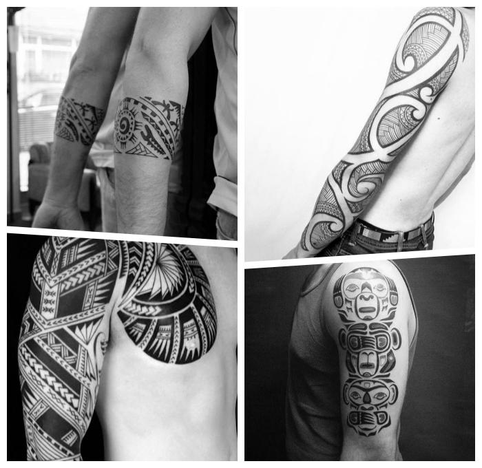 tattoo trends für herren, maori band, tätowierungen mit beudeutung für männer