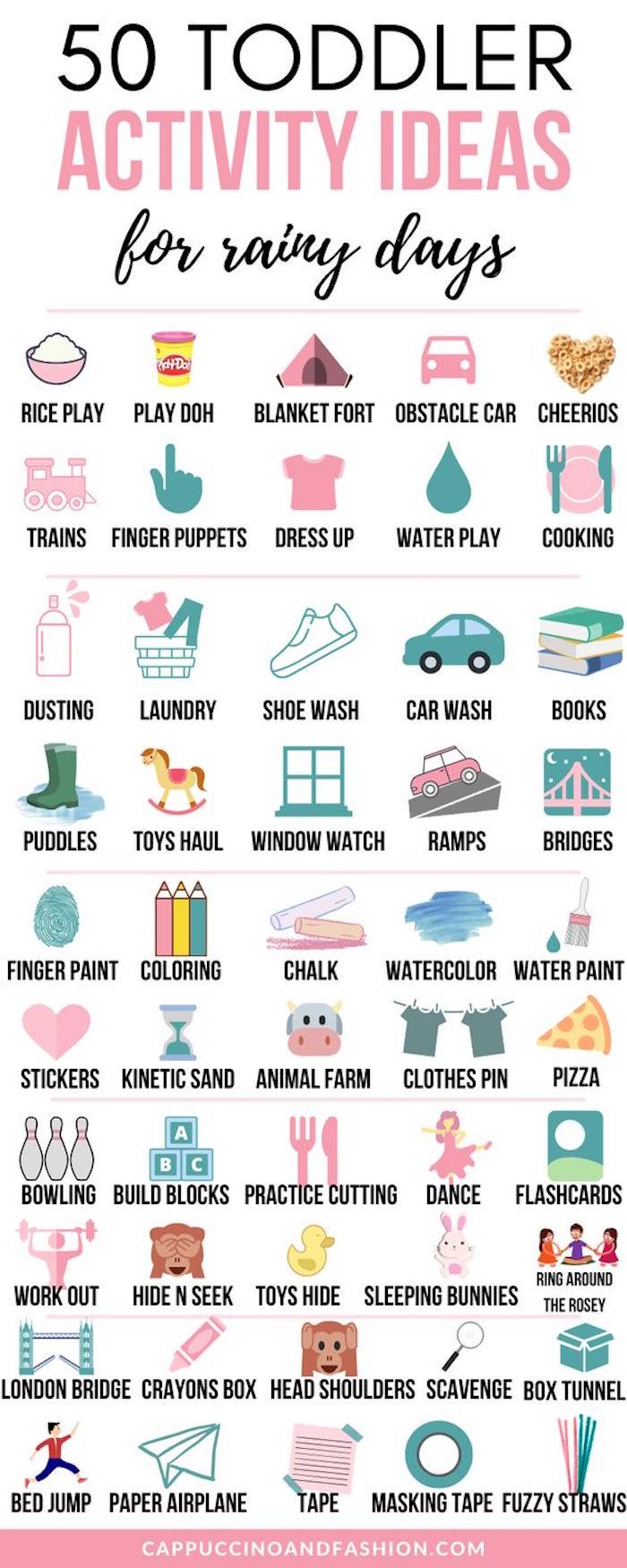 50 Aktivitäten für Kleinkinder, was machen bei Langweile zu Hause