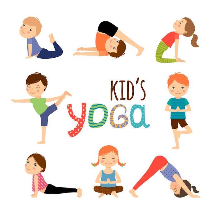 Sport treiben zu Hause, Yoga für Kinder, Yoga Positionen für Anfänger
