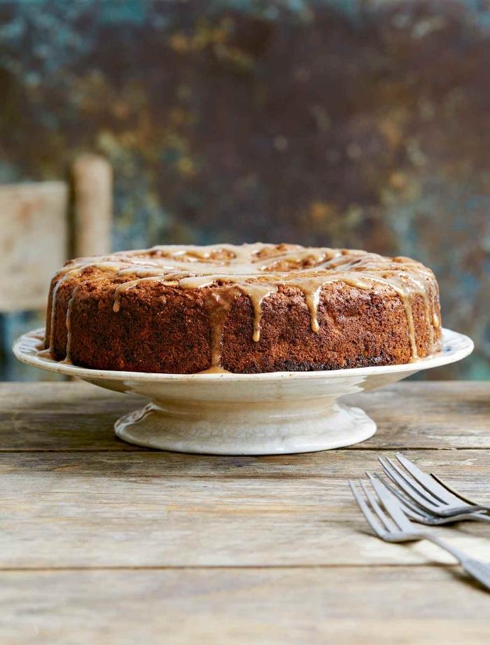 apfelkuchen ohne ei die bestne rzeepte, schneller kuchen mit äpfeln und apfelglasur, veganer nachtisch