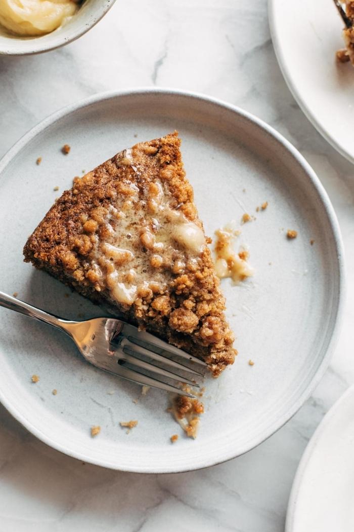 apfelkuchen ohne ei, obstkuchen vegan, nachtisch ideen, gesundes dessert mit äpfeln