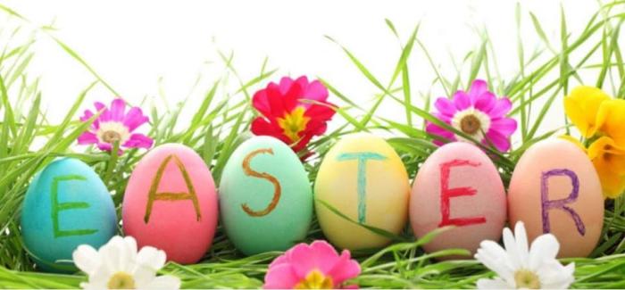 bilder frohe ostern, kostenlose osterbilder, farbenfrohe eier, ostereier im glas, happy easter