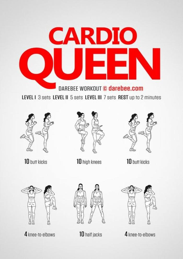 Cardio Queen Workout, Kardiotrainig zuhause, fit ohne Geräte, wie bleibe fit und gesund unter Quarantäne