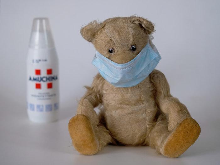 Teddybär mit Mundschutz Maske, Masken selber machen