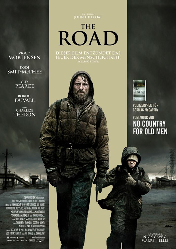 der film the road mit dem schauspieler viggo mortensen, die besten postapokalyptischen filmen aller zeiten, poster zu the road