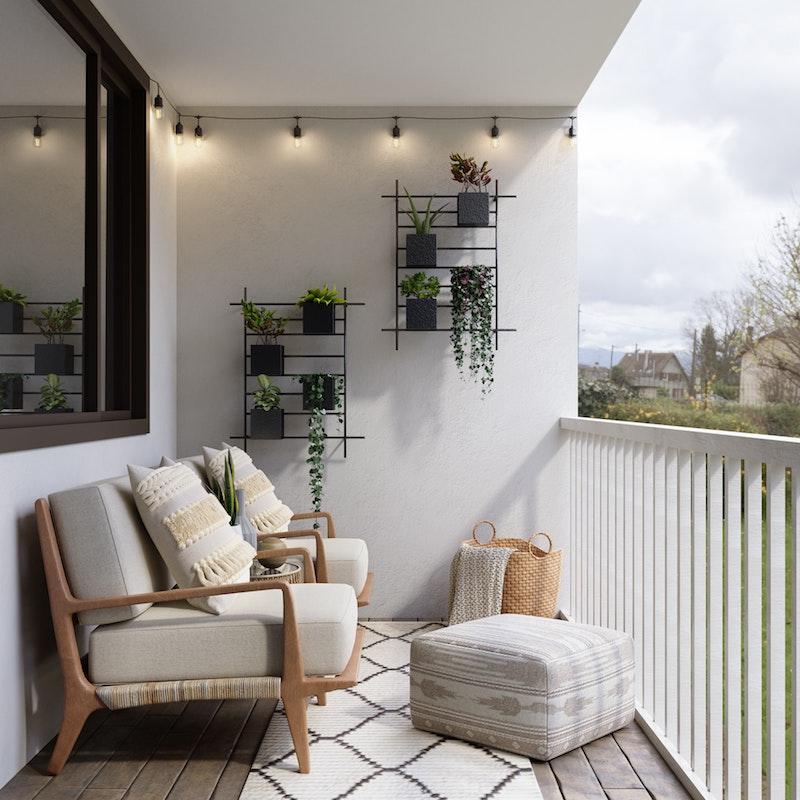 einrichtung minimalistisch moderne balkonmöbel modern balkon ideen