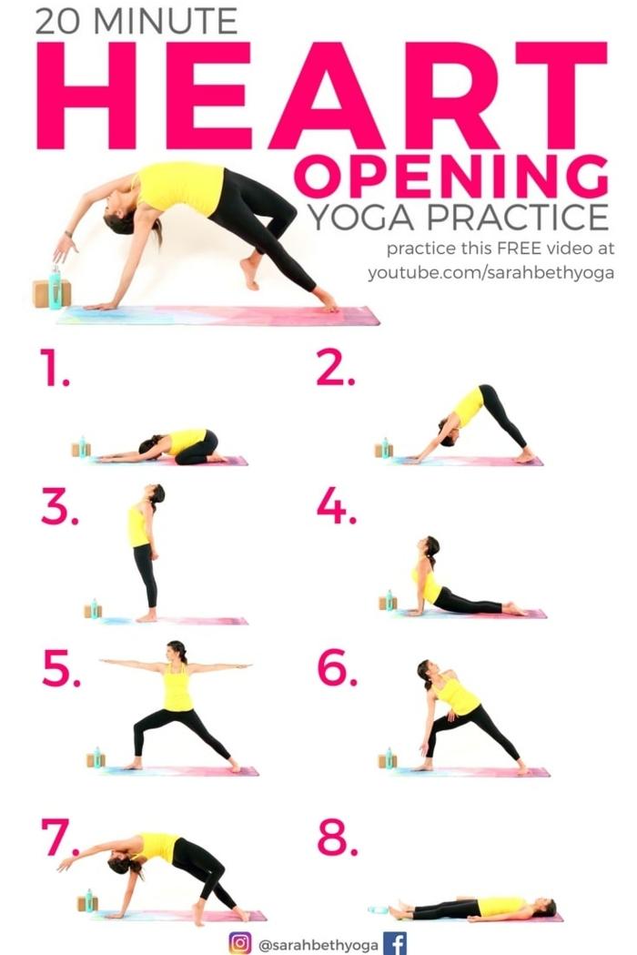 20 Minuten herzöffnende Yoga Praxi, Übungen für Flexibilität und Mobilität, Rückenübungen ohne Geräte