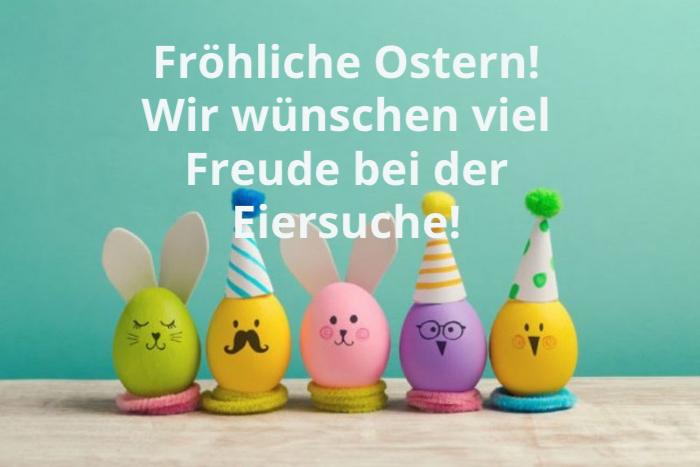frohe ostern wünsche, wie wünsche viel freude bei der eiersuche, eierdeko ideen