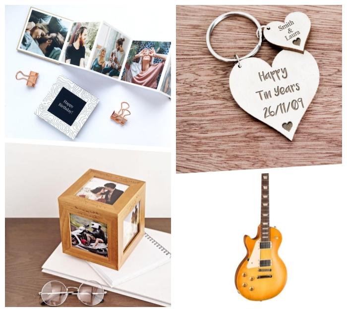 geschenk für freundweihanchten, was kann ich meinem mann geschenken, würfel mit fotos, guitar