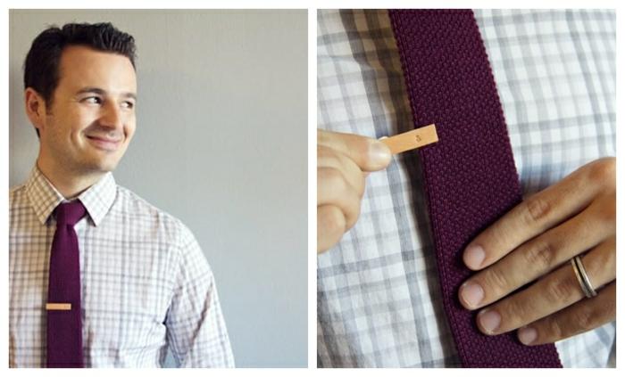 geschenke für männer zum selbermachen, was kann ich meinem mann schenken, lila krawatte