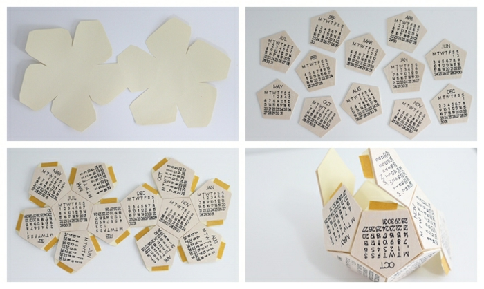 geschenke selber machen für männer, tischkalender basteln aus holz, diy anleitung