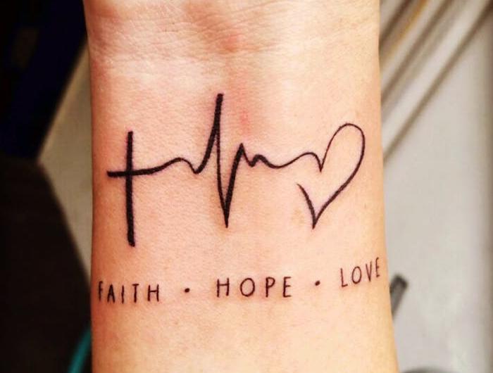 Und kraft hoffnung tattoo Symbol für