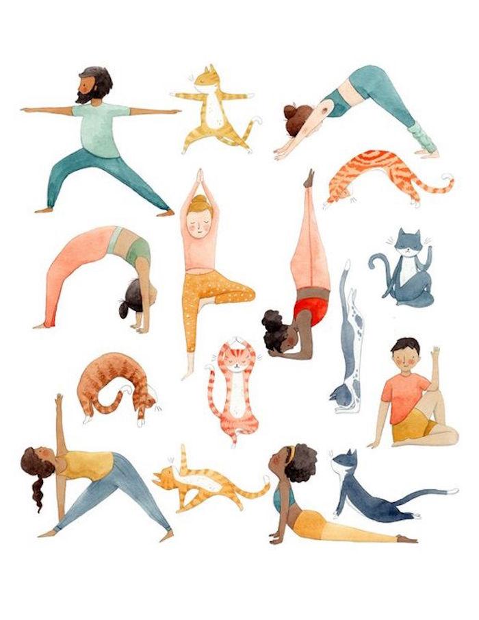 Yoga Positionen für Anfänger, Sport treiben zu Hause, Hobbys für Zuhause