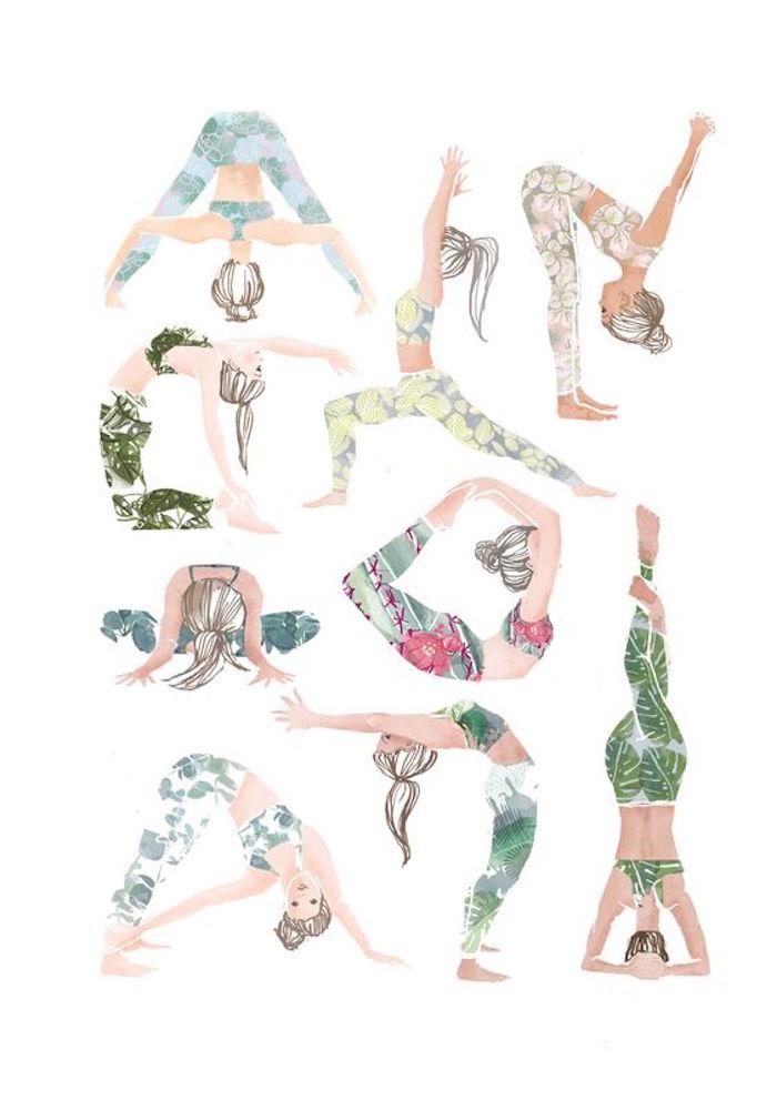 Yoga für Anfänger zu Hause praktizieren, einfache Yoga Positionen
