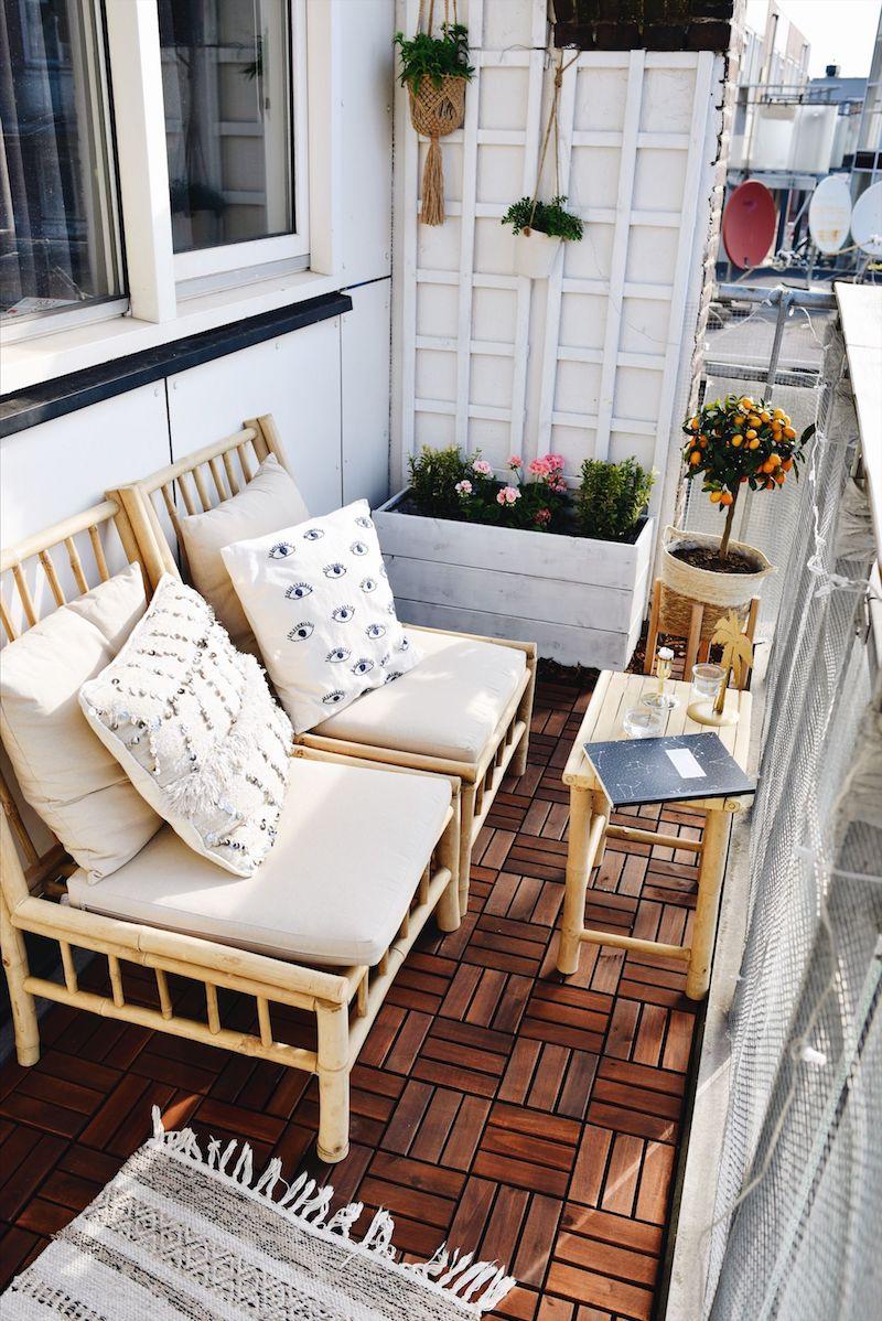 inspiration balkonmöbel balkon gemütlich gestalten ideen