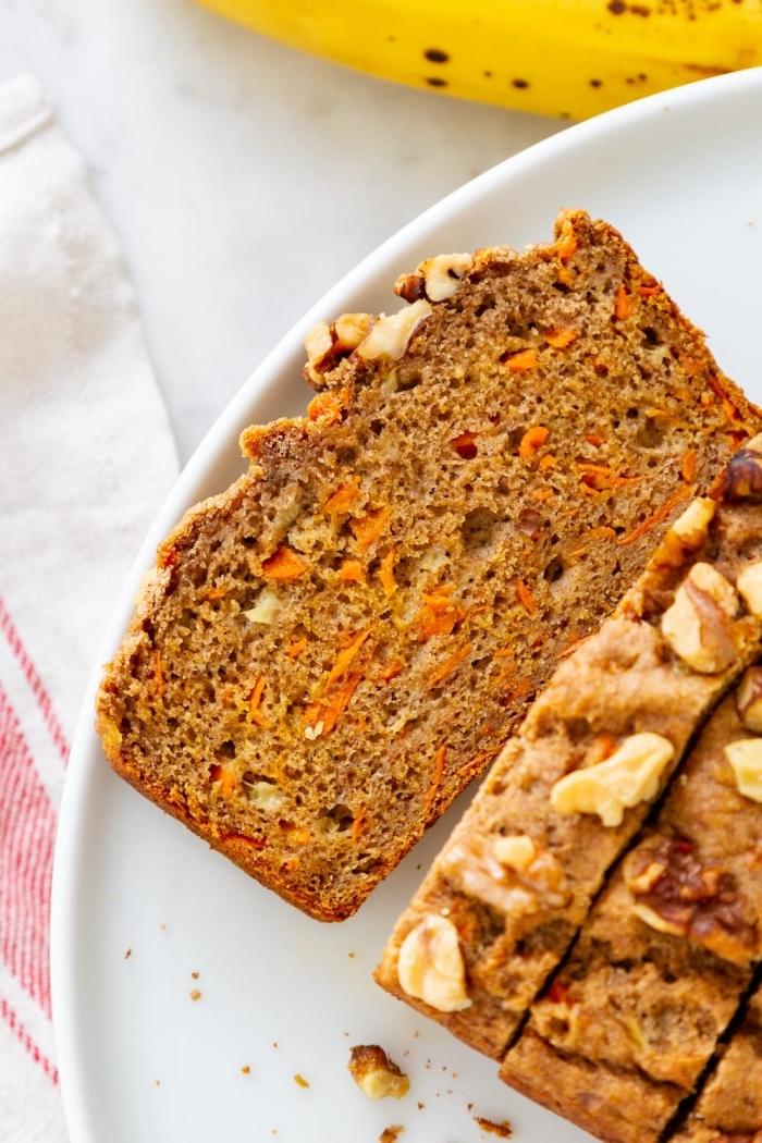 karottenkuchen ohne zucker, nachtisch ideen einfach und schnell, kuchen mit karotten und nüssen