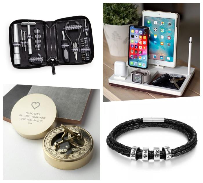 kleine geschenke für männer die alles haben, was kann ich meinem freund schenken, schwarzes armband, vatertagsgeschenke