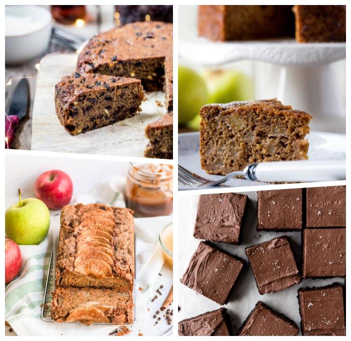 kuchen ohne mehl und zucker, apfelkuchen ideenm kakaokuchen mit nüssen, brownies rezepte