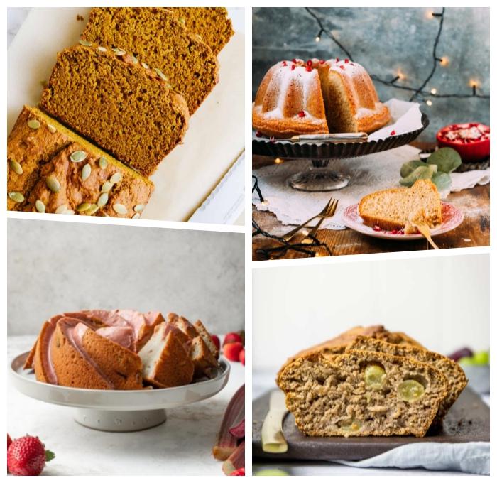 kuchenrezepte ohne butter und milch, schneller kürbiskuchen, bundt cake, veganer nachtisch