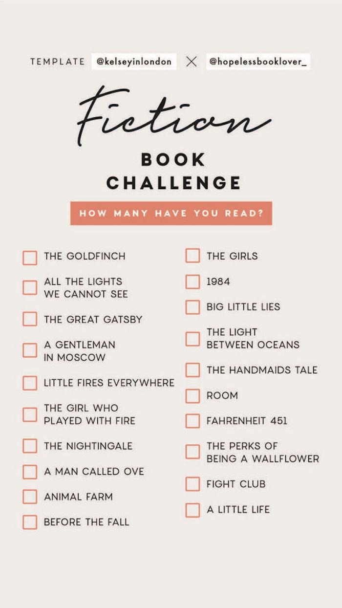 Fiction Bücher Herausforderung bei Langeweile zu Hause, Liste mit 20 Filmtiteln