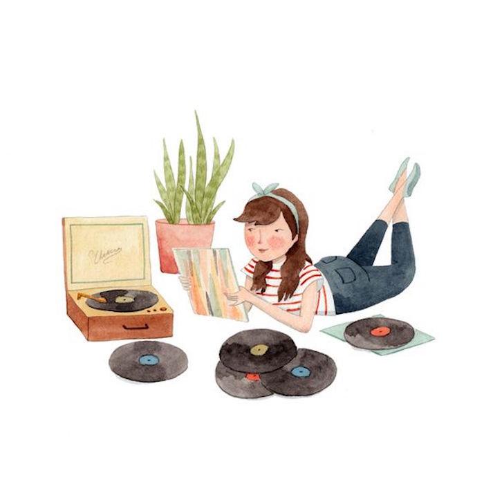 Schallplatten hören, was kann man machen wenn einem langweilig ist