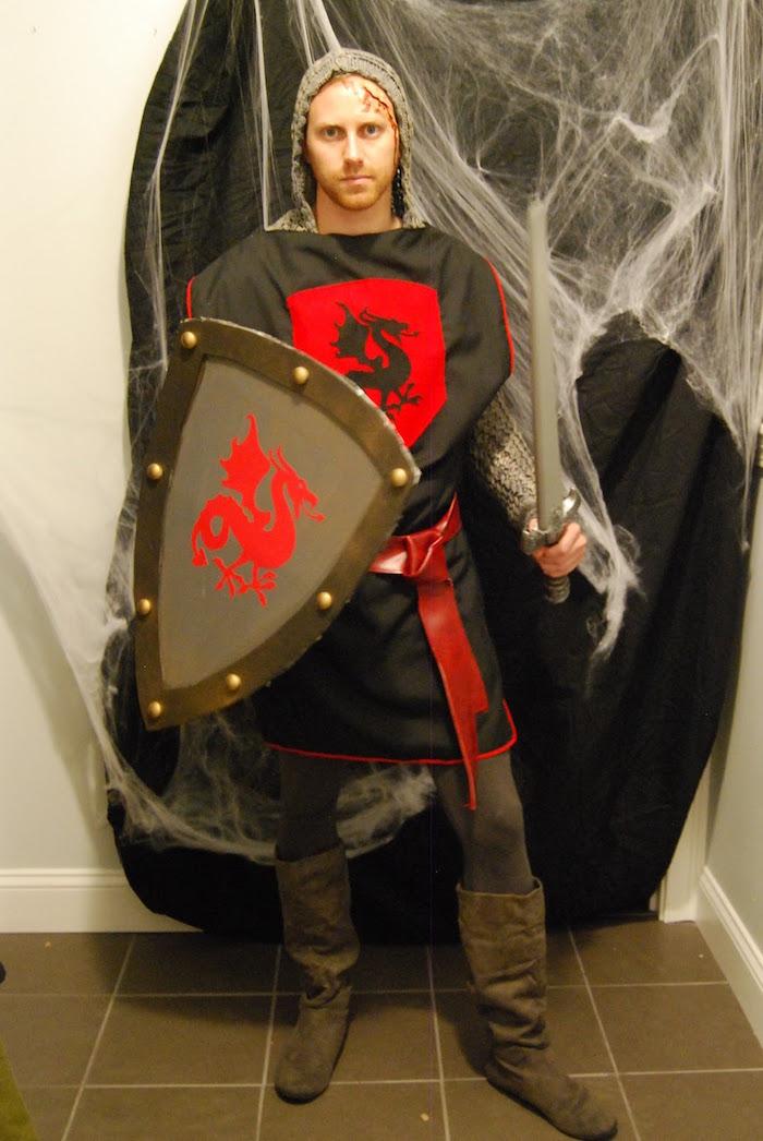 Ritter Kostüm für Heeren, Kleidung für Mittelalter Themenparty