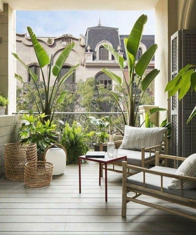 moderne inneneinrichtung minimalistisch balkon bepflanzen ideen inspo