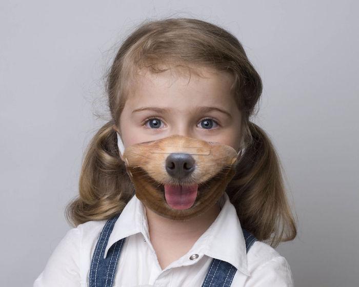 Mundschutzmaske mit Tier Design für Kinder, Hund Atemschutzmaske