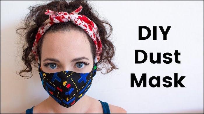 Atemschutzmaske gegen Viren selber nähen, Vorlage und Anleitung
