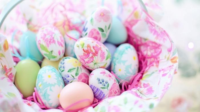 schöne ostern bilder zum herunterladenm ostereier verzieren, eier dekorieren, florale deko
