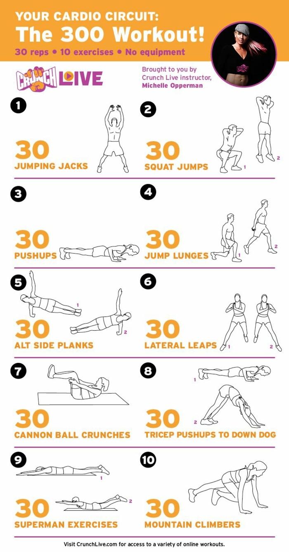 Cardio Circuit Workout, zehn Kardio Training Übungen, Muskelaufbau zuhause, Trainieren ohne Geräte