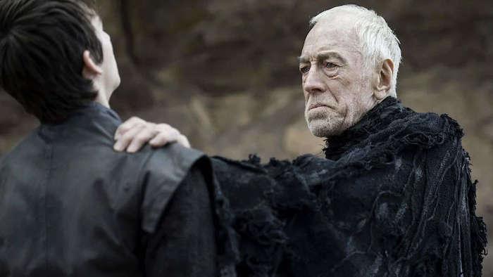 der dreiäugige rabe, der schauspieler max von sydow ist gestorben, ein alter man, ezene aus der serie game of thrones
