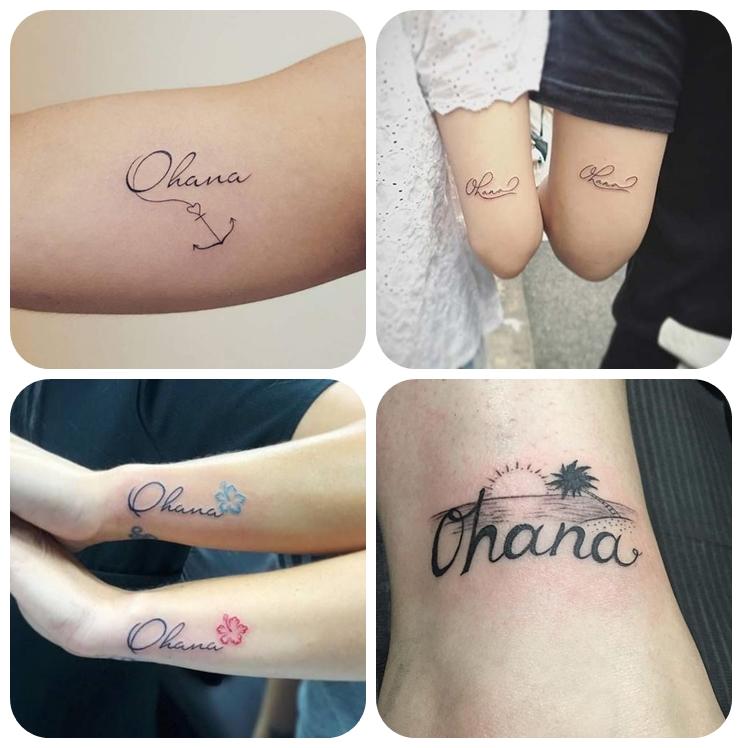 tattoo ideen familie, die besten motive für geschwister, tätoweirungen mit beudetung