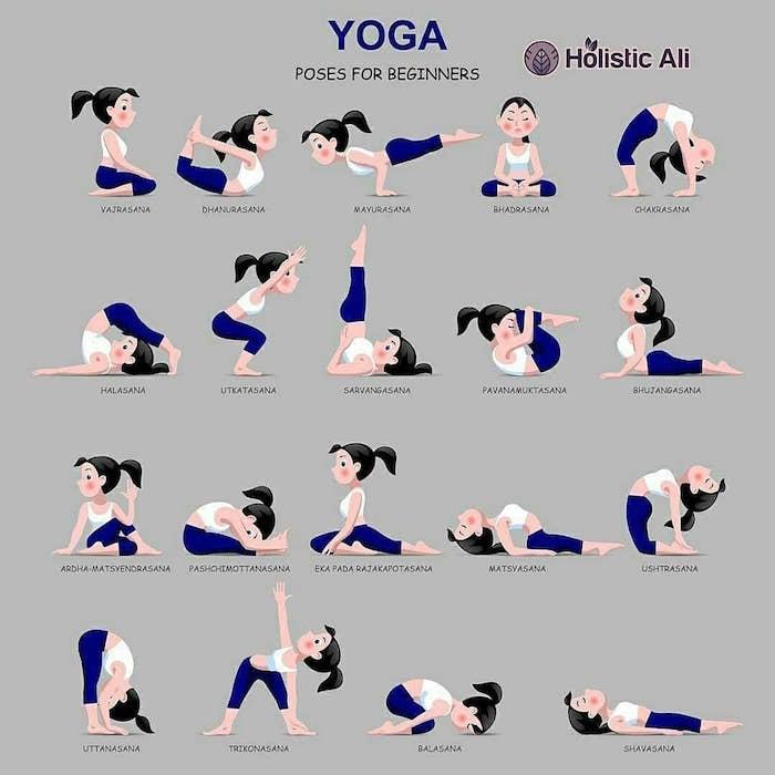 Yoga Positionen für Anfänger, Yoga zu Hause praktizieren, Hobby Ideen