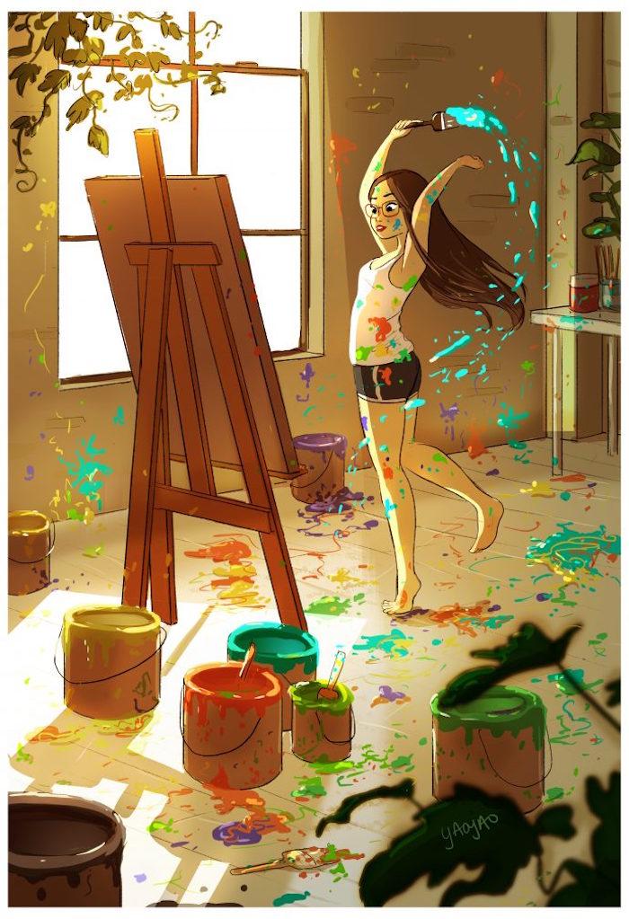 Was kann man gegen Langeweile machen, kreative Aktivitäten, etwas malen