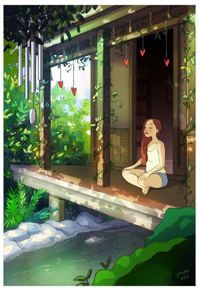 Meditieren im Garten, Ideen gegen Langeweile, Entspannung und Erholung