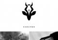 Designer kombiniert Elemente von zwei Bildern, um schöne Markenlogos zu entwickeln