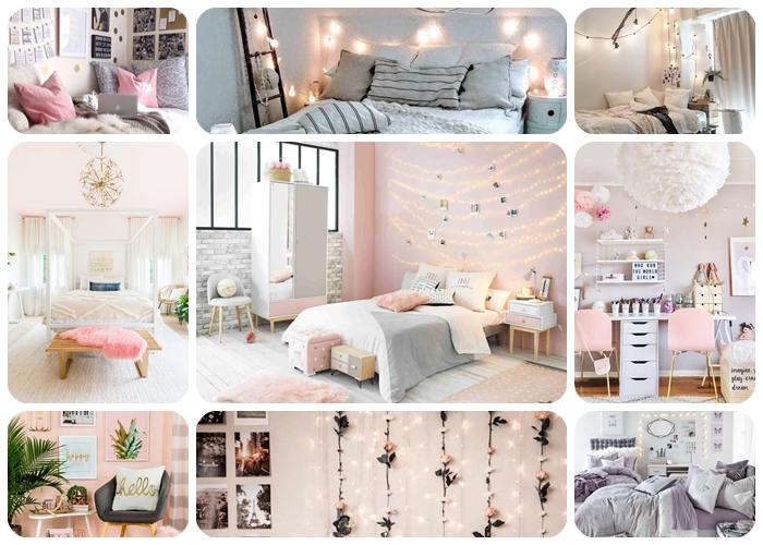 tumblr zimmer deko, jugendzimmer einrichten, jugendzimmerdeko ideen, teenager zimmer gestalten