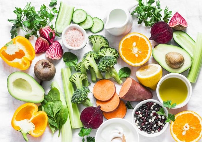 wie stärke ich mein immunsystem, gesunde ernärung, früchte und gemüse reich an vitamin c