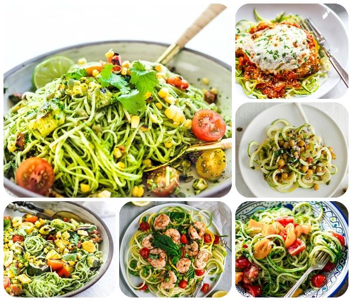 zucchini spaghetti rezept, mittagessen ideen, gesund essen, low carb gerichte zum abnehmen