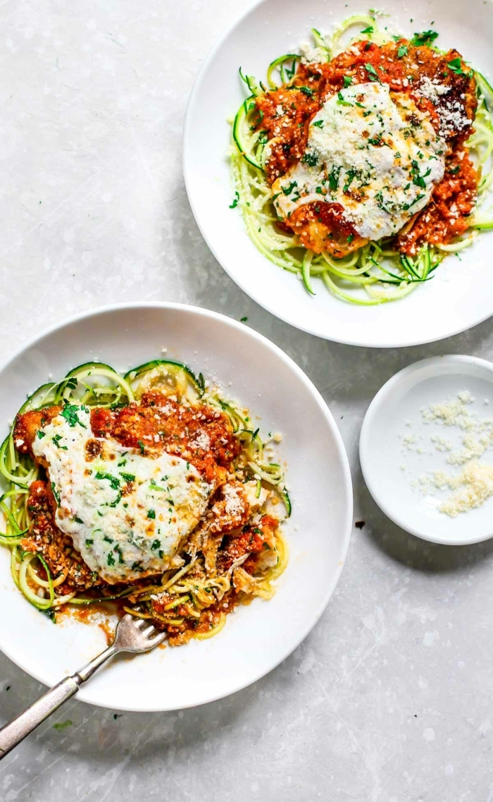 zucchini spaghetti bolognese, was koche ich heute, low carb mittagessen rezept