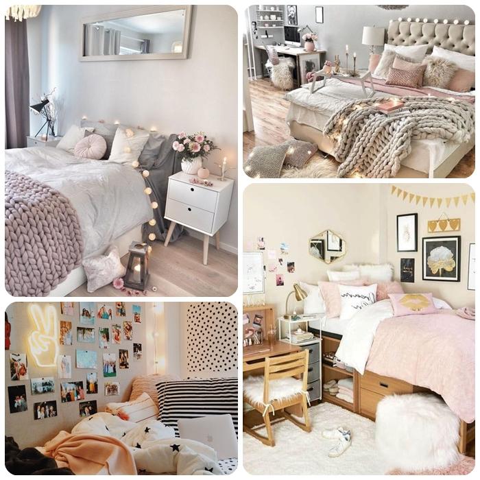 kleine jugendzimmer optimal einrichten, teenager zimmer gestalten, schlafzimmer deko