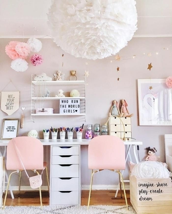 pinterest zimmer, mädchenzimmer einrichten, zimmereinrichtung in weiß und pastallrosa
