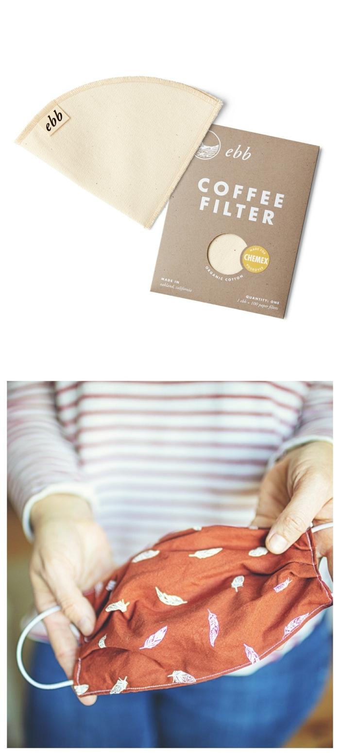 Kaffeefilter als Filter für Mundschutz verwenden, Collagen mit Gesichtsmaske, Masken selber machen