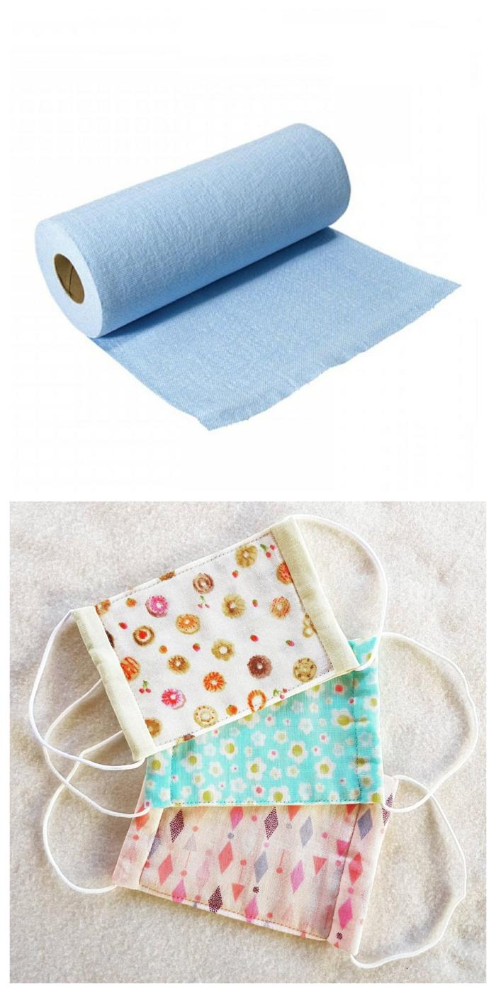 Putzlappen als Filter für Atemschutzmasken verwenden, Mundschutz gegen Viren und Bakterien