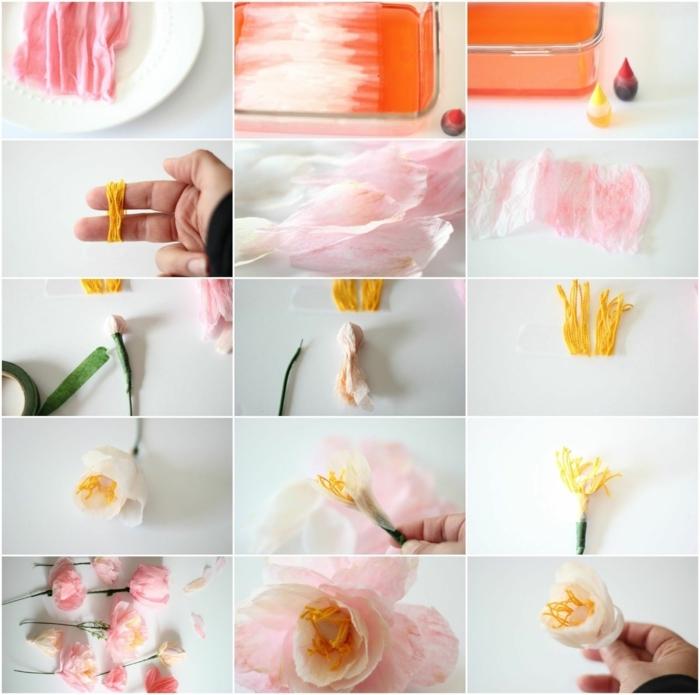 tolle rosen aus papier schnell und einfach, papierrosen selber machenm, schritt für schritt anleitung
